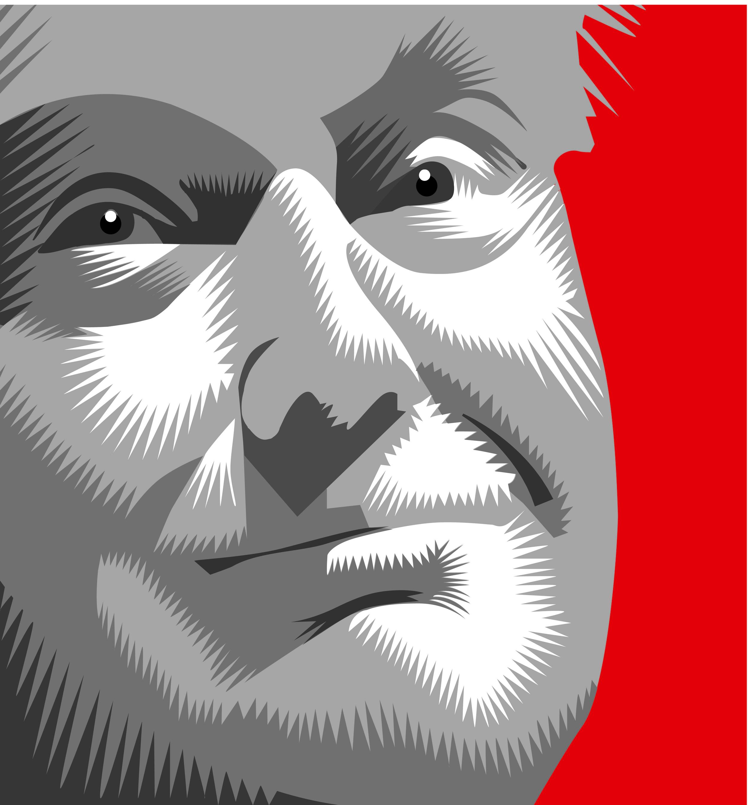The Donald Portrait Warmups 2015 Q. Cassetti Adobe Illustrator 2015