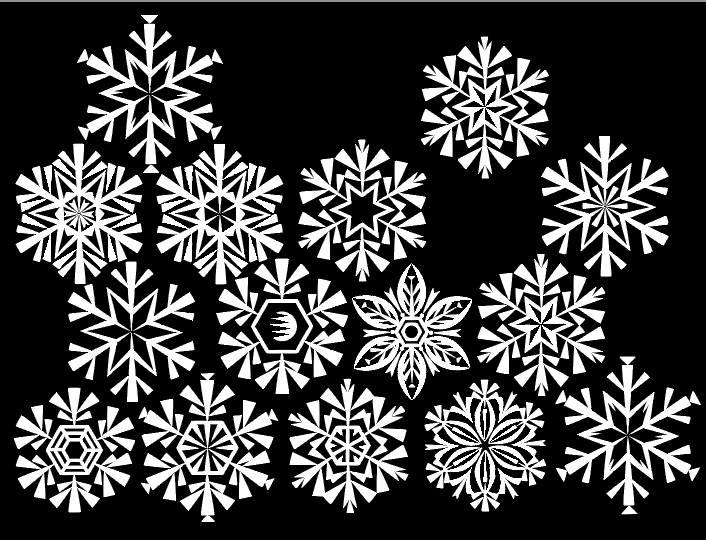 Sketches of Snowflakes: Mad Men Styling Q. Cassetti, Adobe Illustrator 2015 Trumasnburg, NY