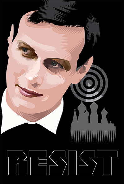 Tuning in with a secret back channel   Week Nineteen of the Resistance   Q.Cassetti 6.2.2017   Adobe Illustrator CC