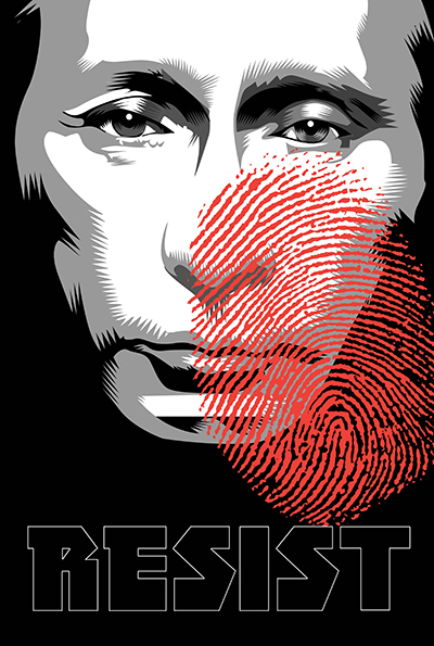 Russian Thumbprint Week Twenty Two of the Resistance Q.Cassetti 6 23.2017 Adobe Illustrator CC