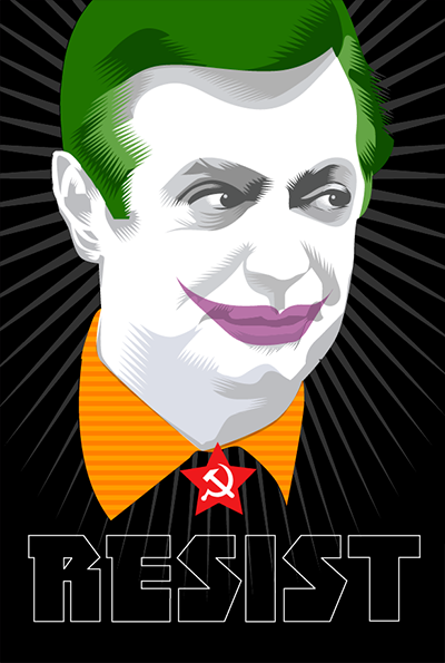 """Introduce a little anarchy. Upset the established order, and everything becomes chaos. I'm an agent of chaos...""  ―  The Joker - Heath Ledger   Joker Week Forty of the Resistance Q.Cassetti 11.02.2017 Adobe Illustrator"