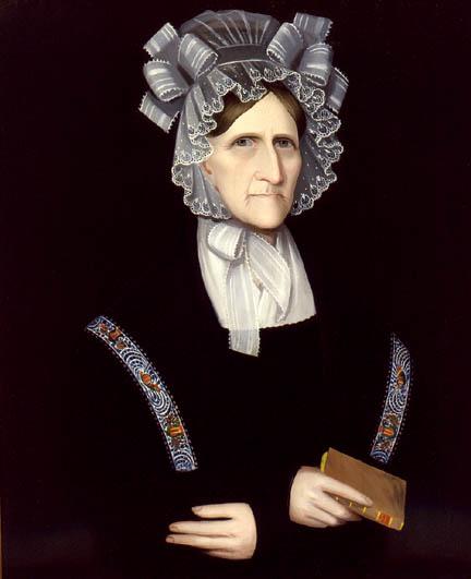 9 Ammi Phillips (American artist, 1788-1865)  Katherine Salisbury Newkirk Hickok, c. 1825.jpg