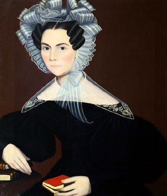 9 Ammi Phillips (American artist, 1788-1865)  Portrait of a Woman.jpg