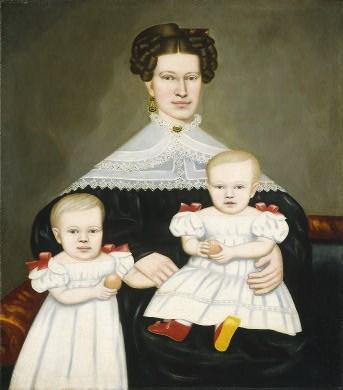 Erastus Salisbury Field (American artist, 1805-1900) Mrs. Paul Smith Palmer and Her Twins, c 1835.jpg