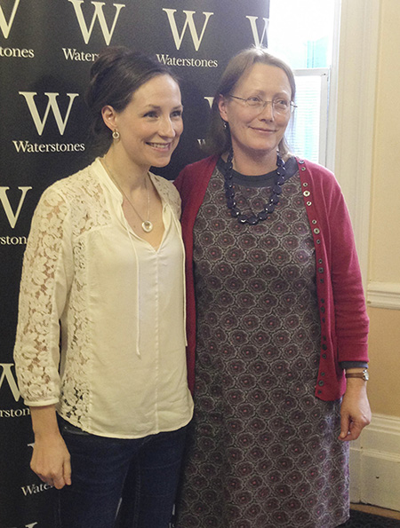 With Julie Fowlis, Wellington Church Library, Glasgow.