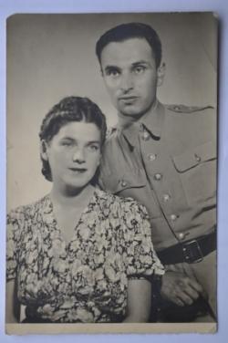 Misha and Sophia in 1945