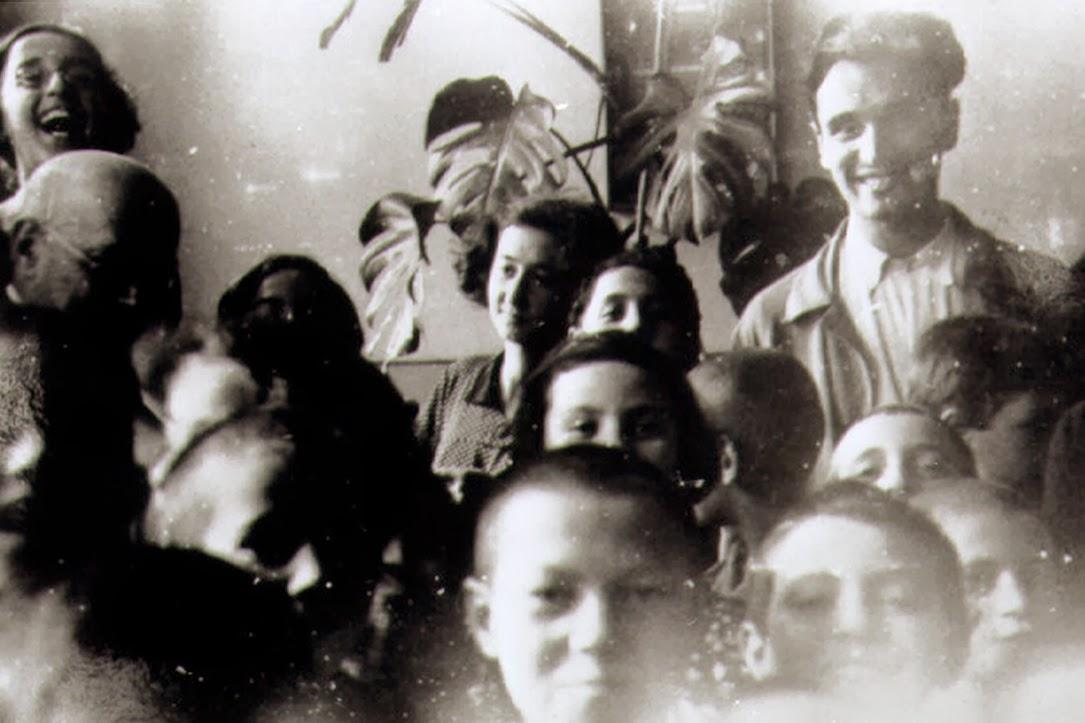 Misha, Korczak and the children sharing a joke.