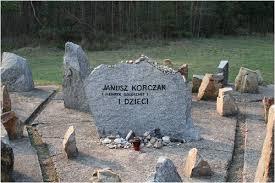The memorial stone at Treblinka to Janusz Korczak and the children.