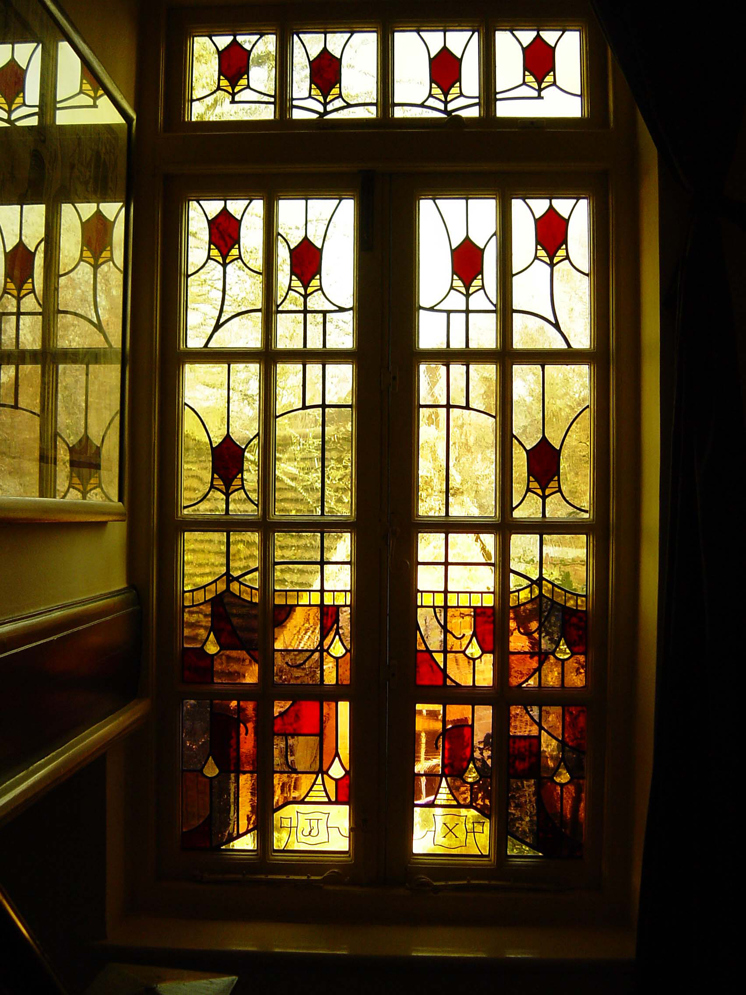 Window on stairs, Hampstead, London.
