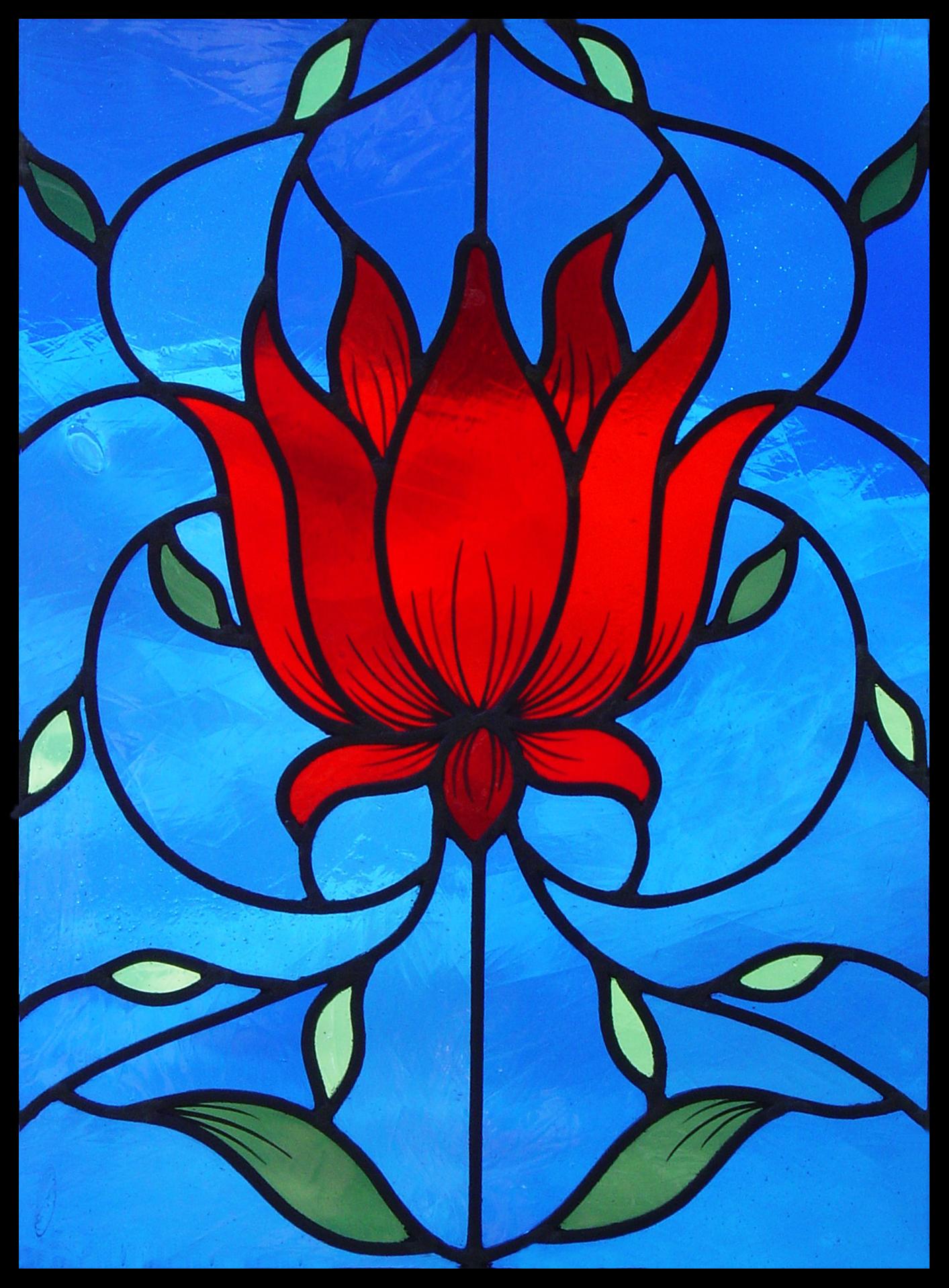Red Lotus panel after William Morris.