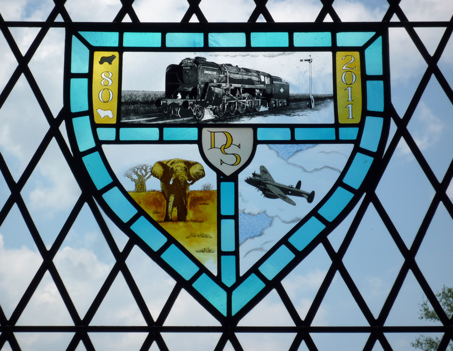 80th anniversary shield for David Shepherd, East Sussex.