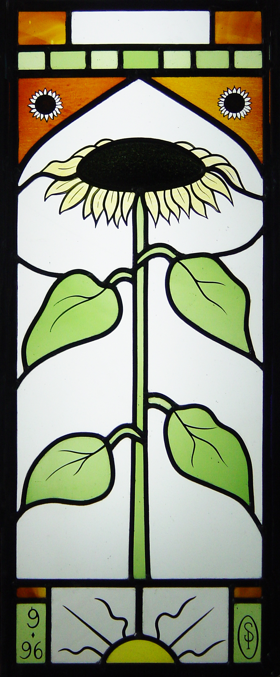 Sunflower panel. Tunbridge Wells, Kent.