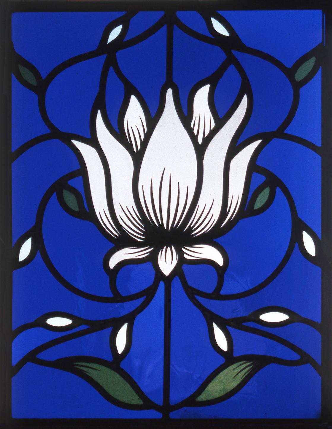 White Lotus panel after William Morris.