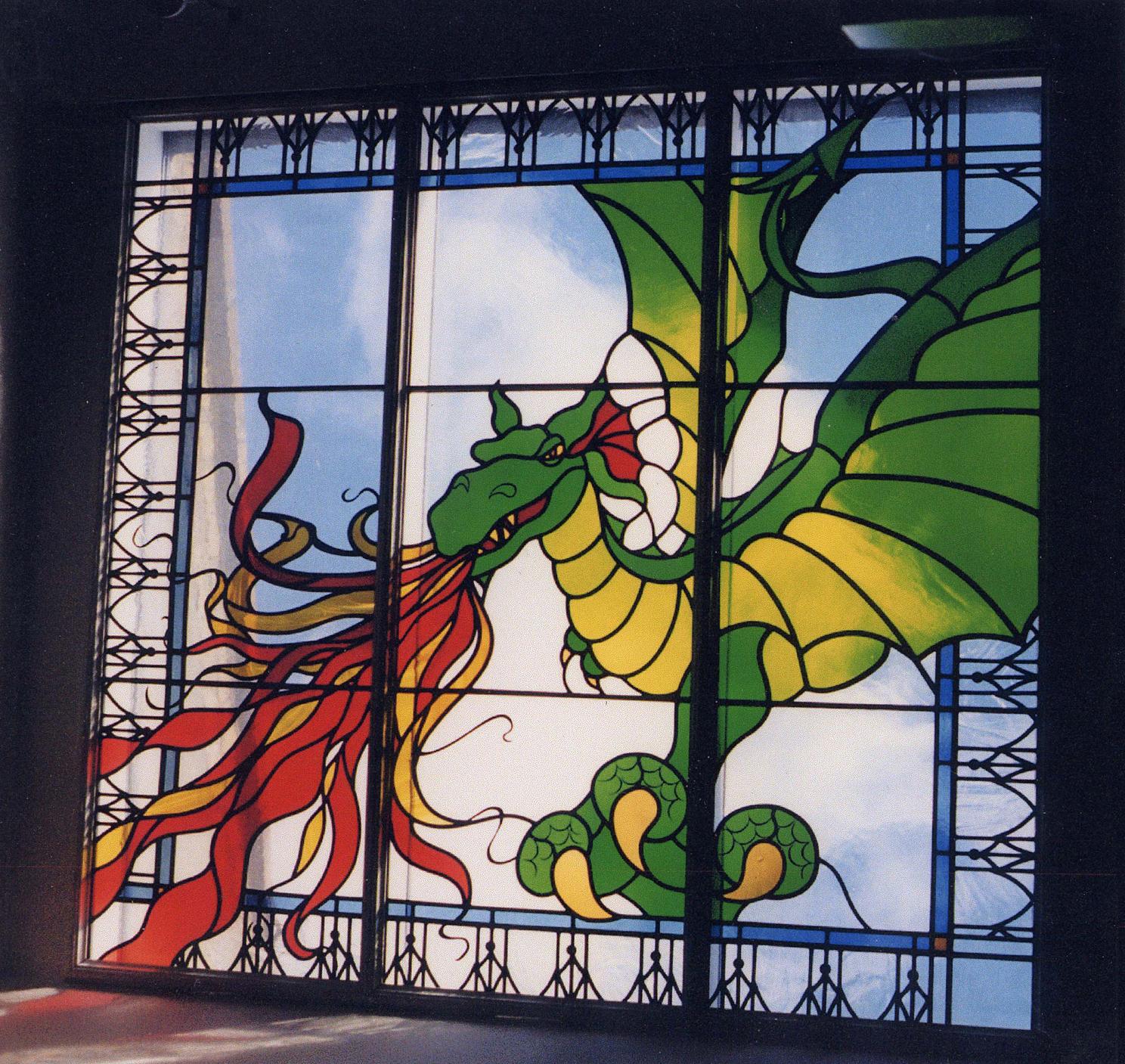 Dragon rooflight above stairwell, Barnes, London.