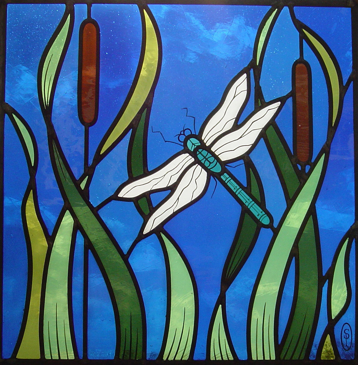 Dragonfly window, Tenterden, Kent.