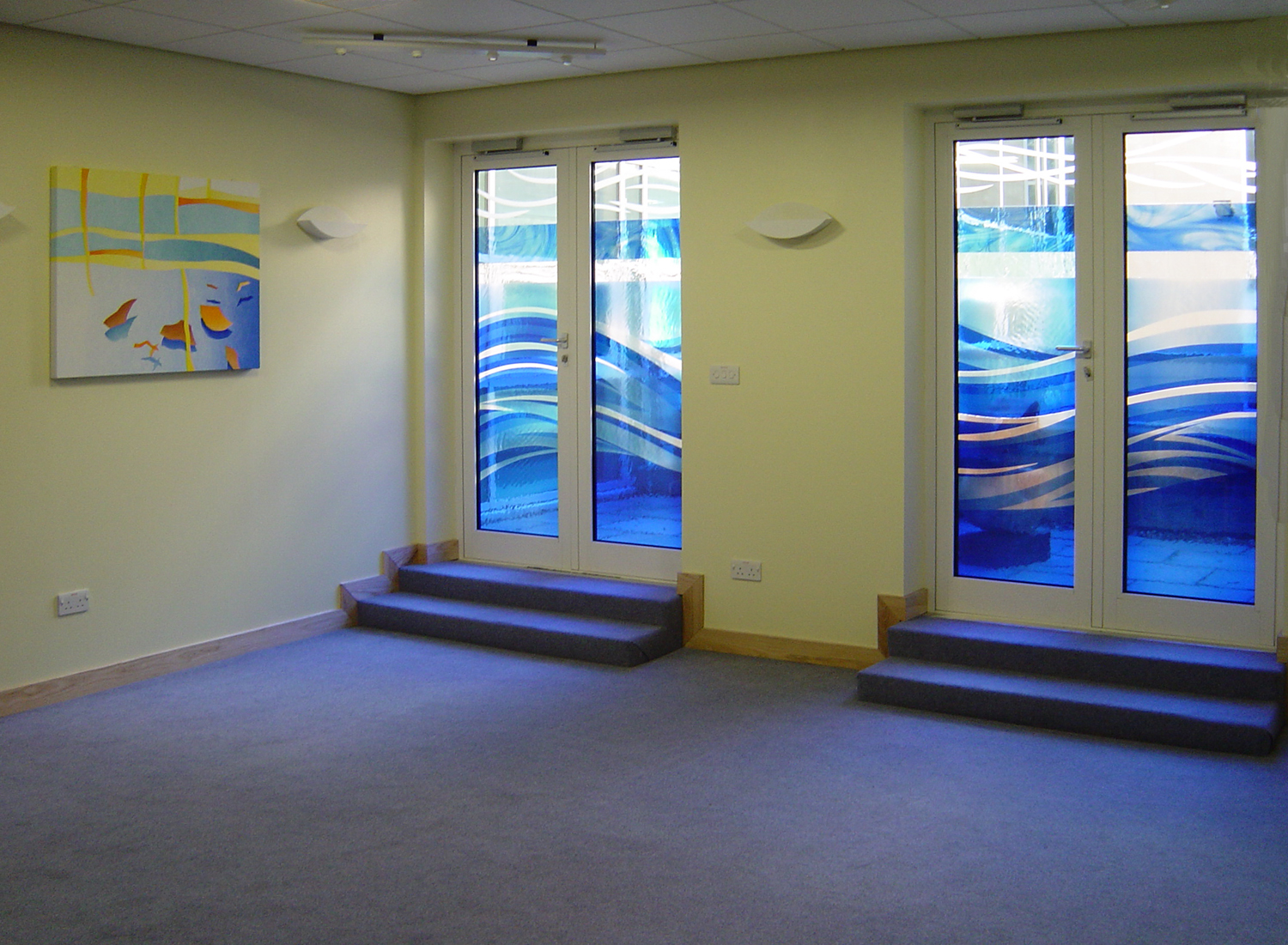 Doors and paintings for The Sanctuary at Royal Berkshire Hopsital, Reading.