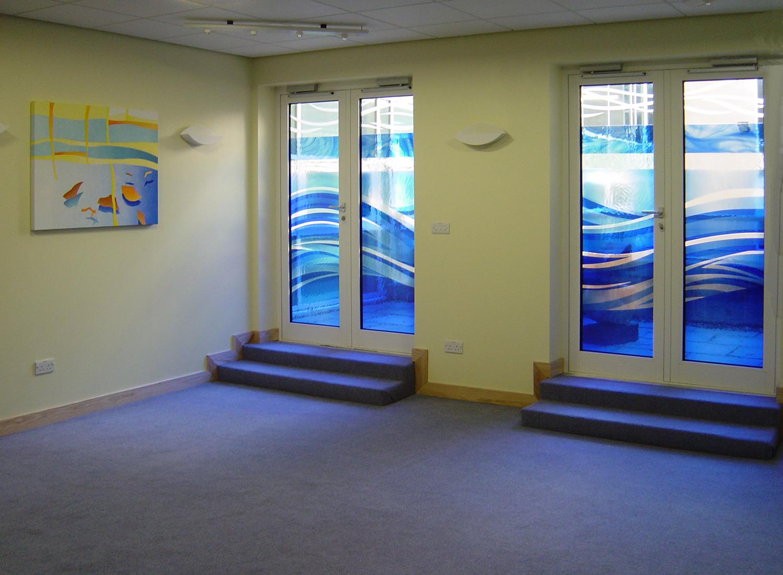 Doors and paintings for multi-faith room, Royal Berkshire Hospital, Reading.