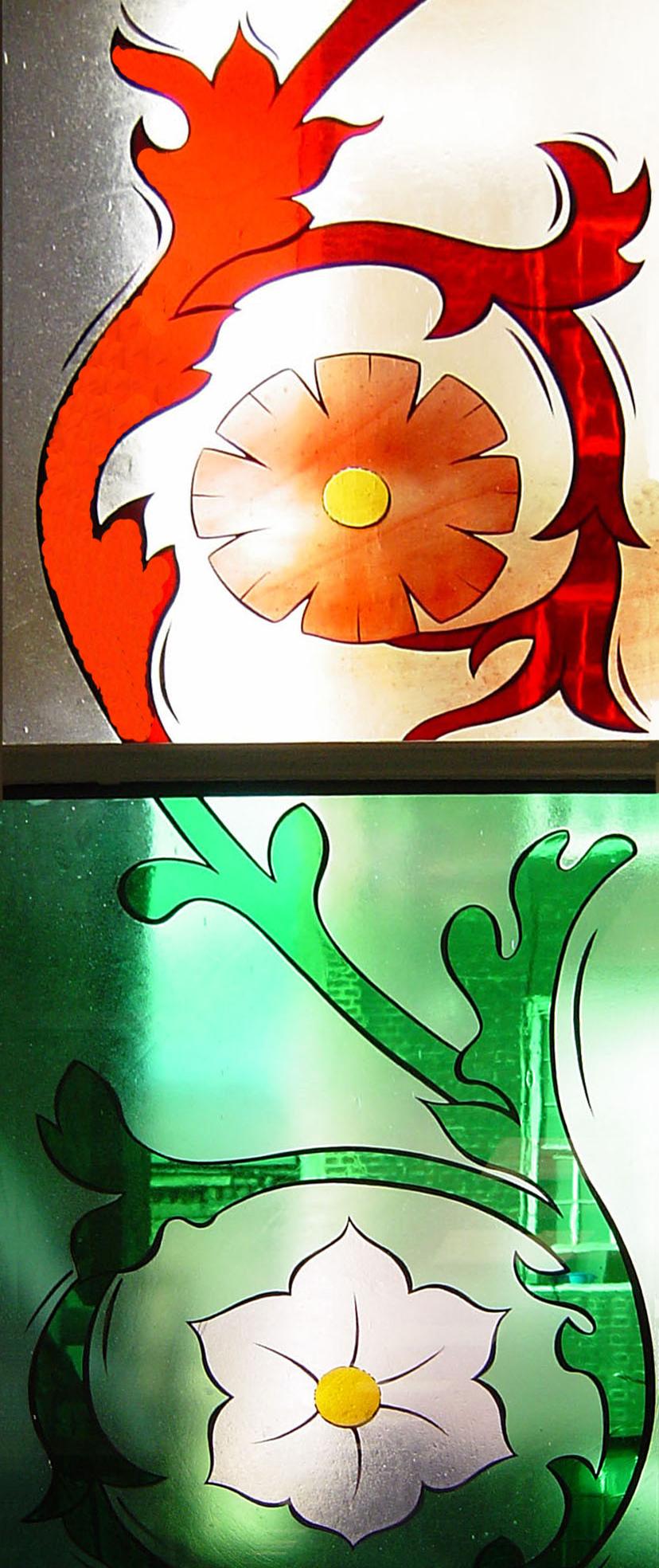 Detail of window in Lewis Loyd Ward St Mary's Hospital