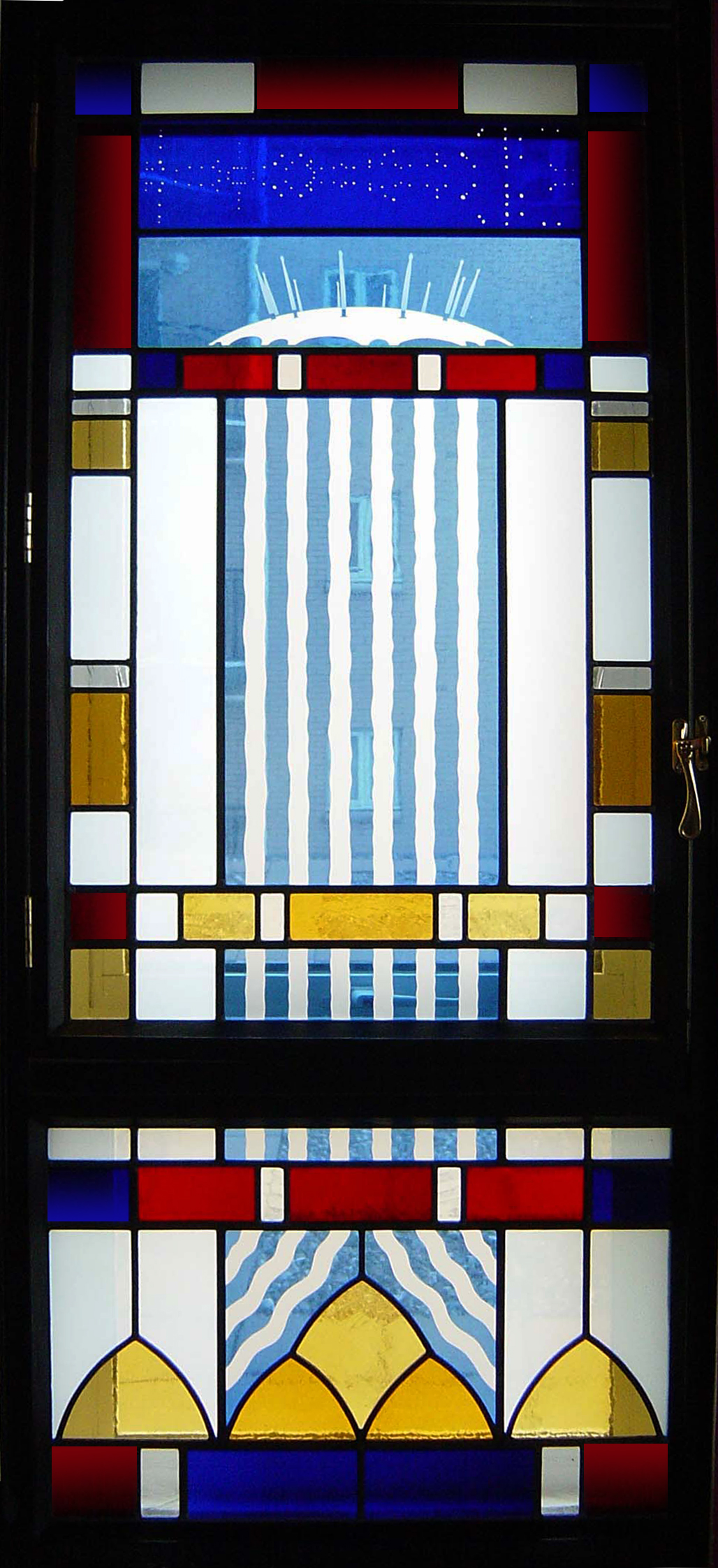 Christopher Dresser window, Docklands, London.