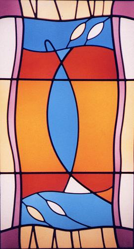 Seetha's Rug window, Islington, London.