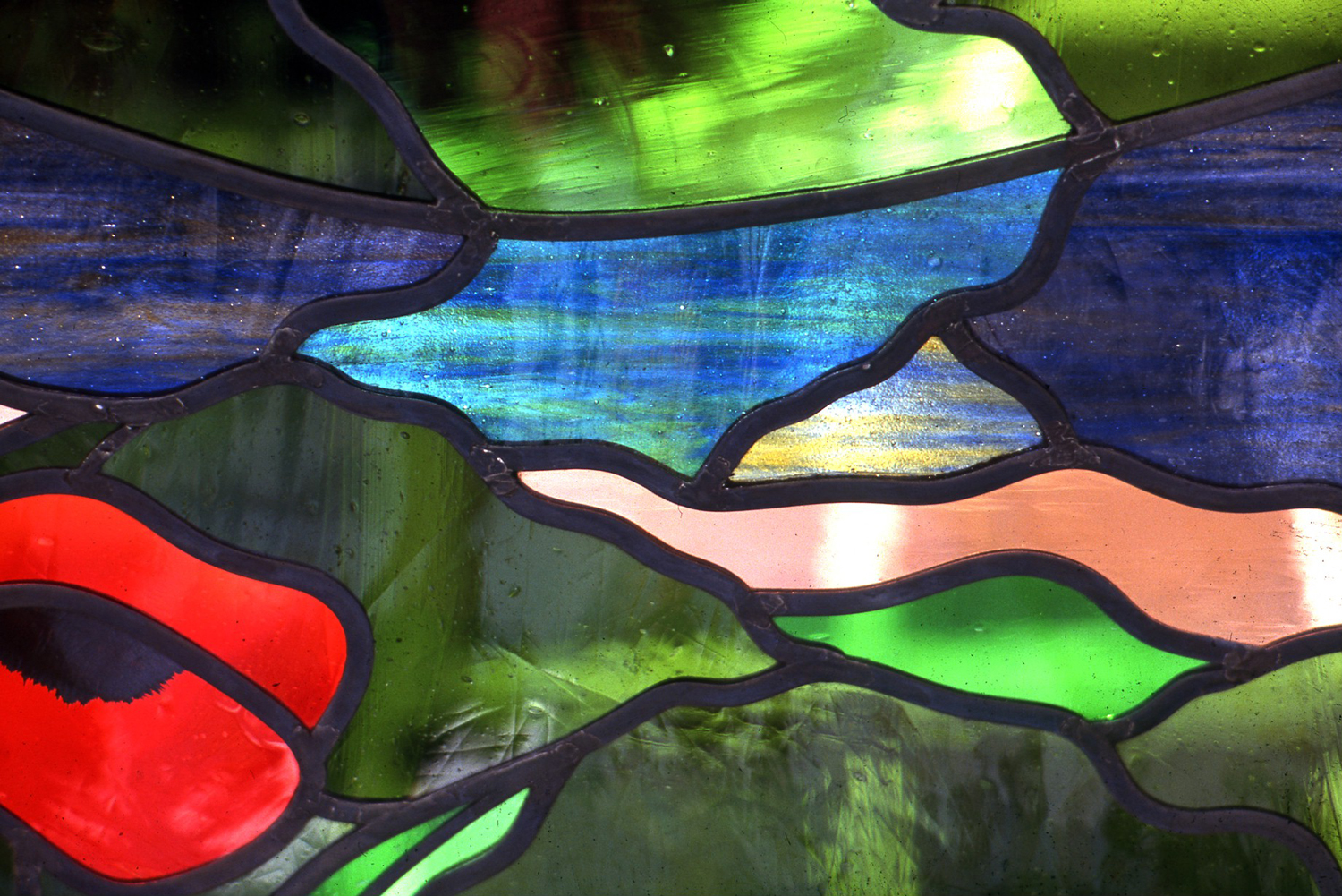 Detail of New River window, Canonbury, London.
