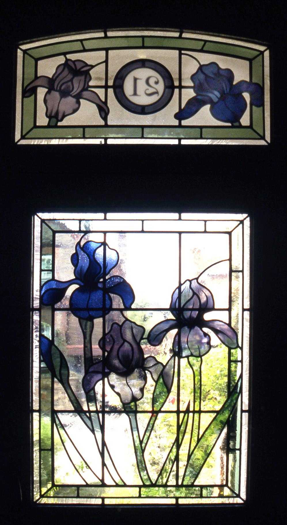 Irises front door. Putney, London.