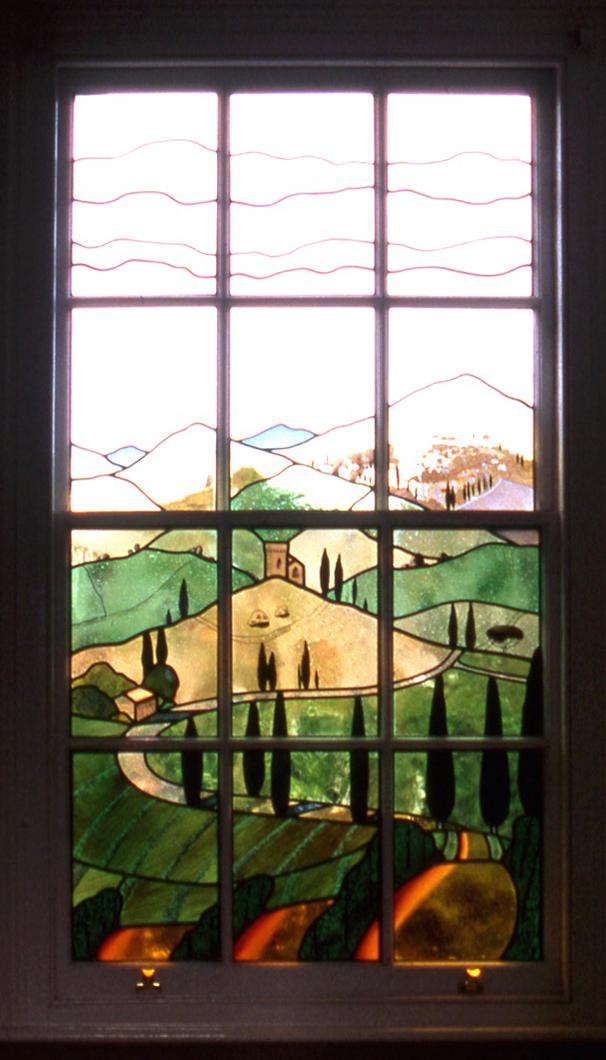 Tuscany window for bathroom. Islington, London.