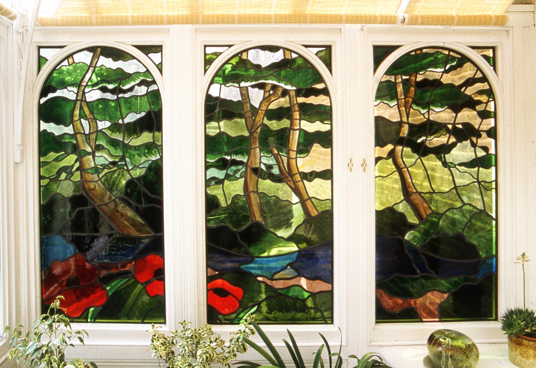 New River window, Canonbury, London.
