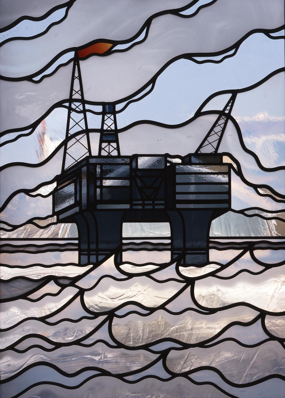 Oil Rig panel, Kingston, Surrey.