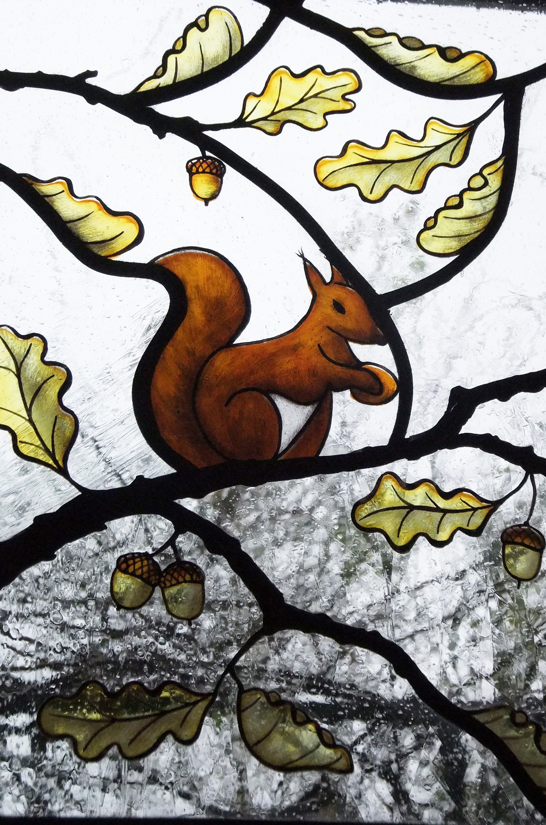 Squirrel detail of Tudor arch by Stoney Parsons.