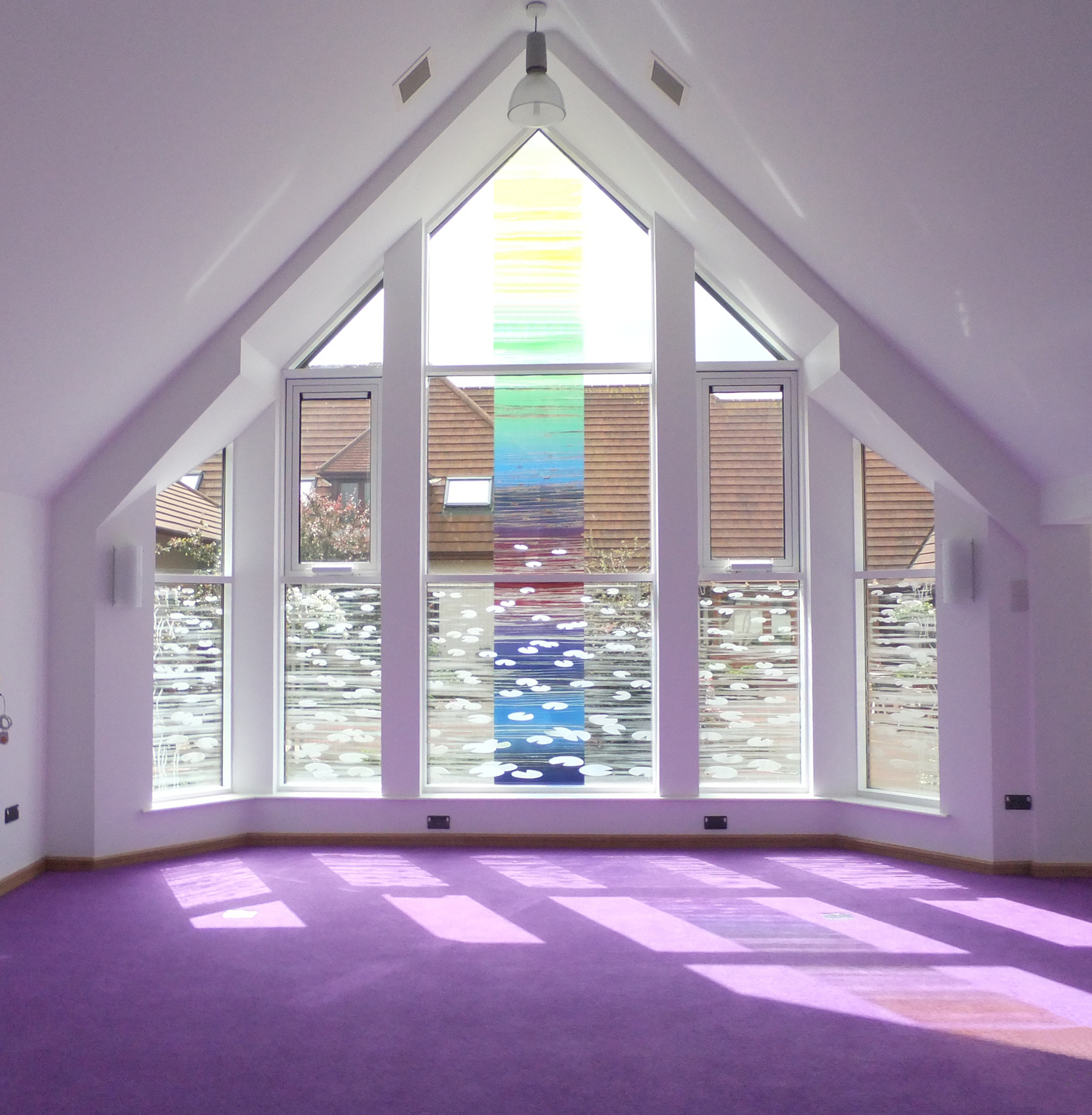 Glass for Scared Space at Martlets Hospice, Hove.