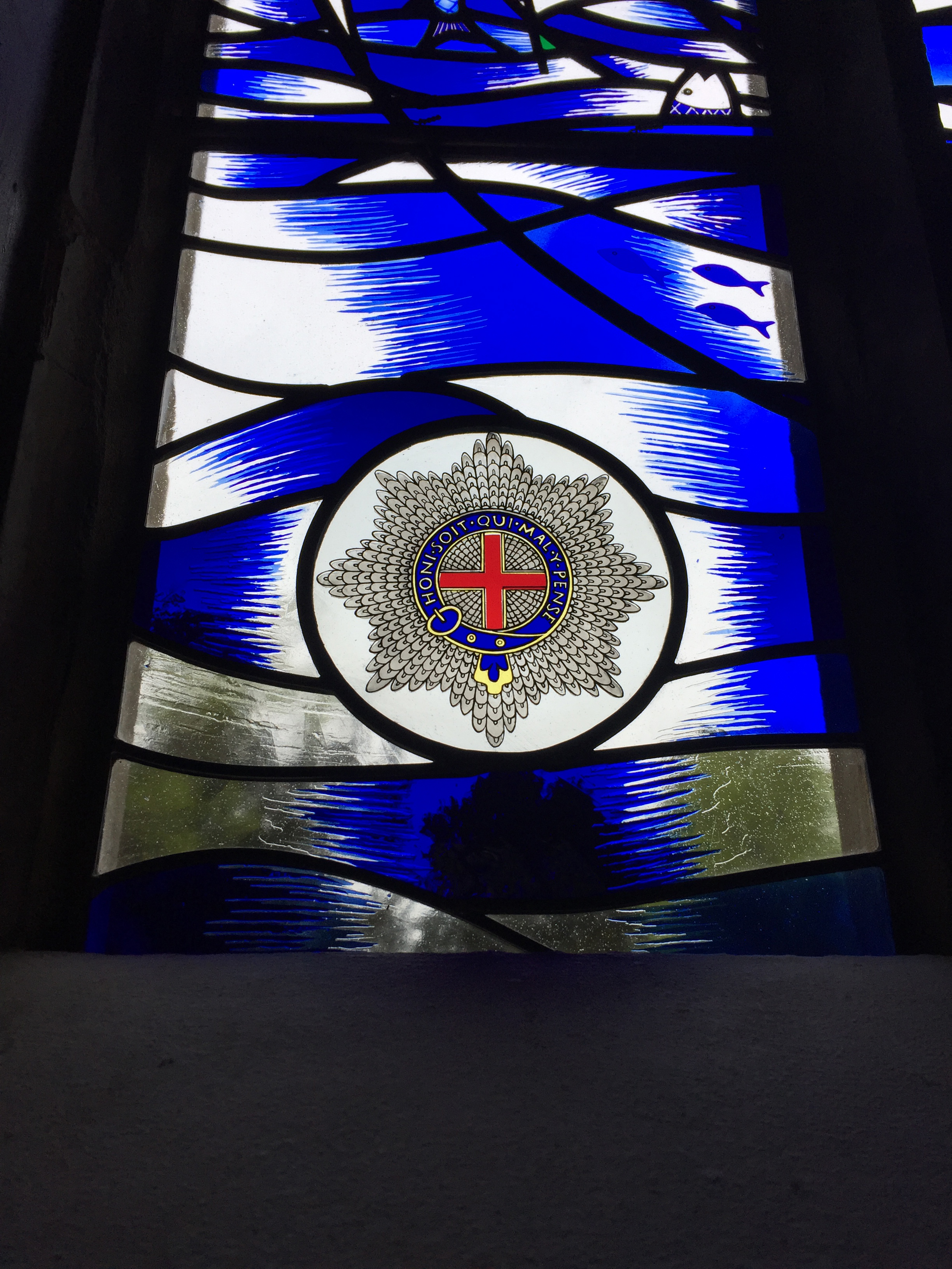 Detail of Garter Star in Stained Glass