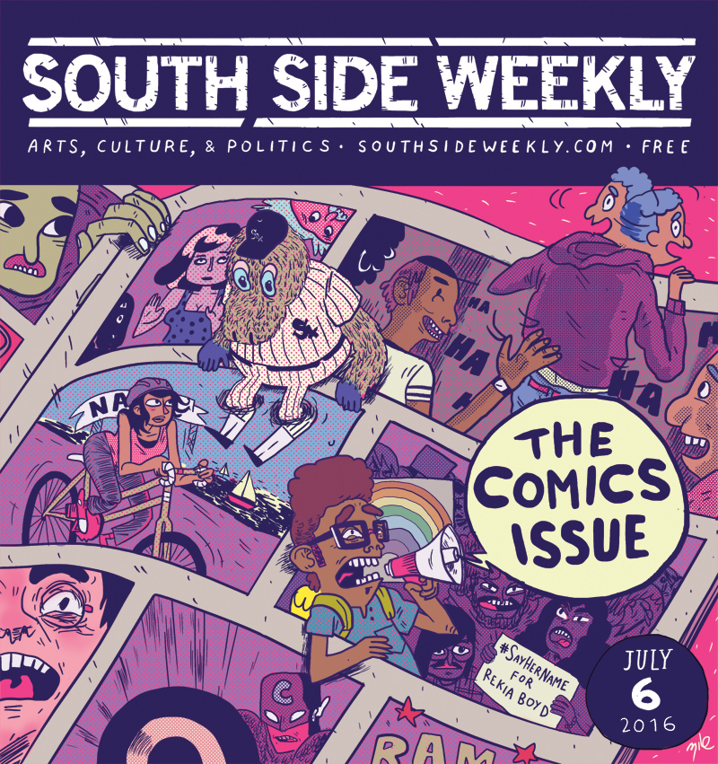 """Southside Weekly"" - Comics Issue Cover - July 2016"
