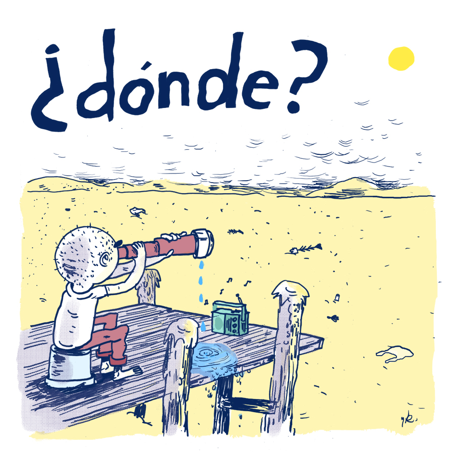 "Artwork Design for ""¿Dónde?"" by Cheo & Ulises Hadjis (2018)"