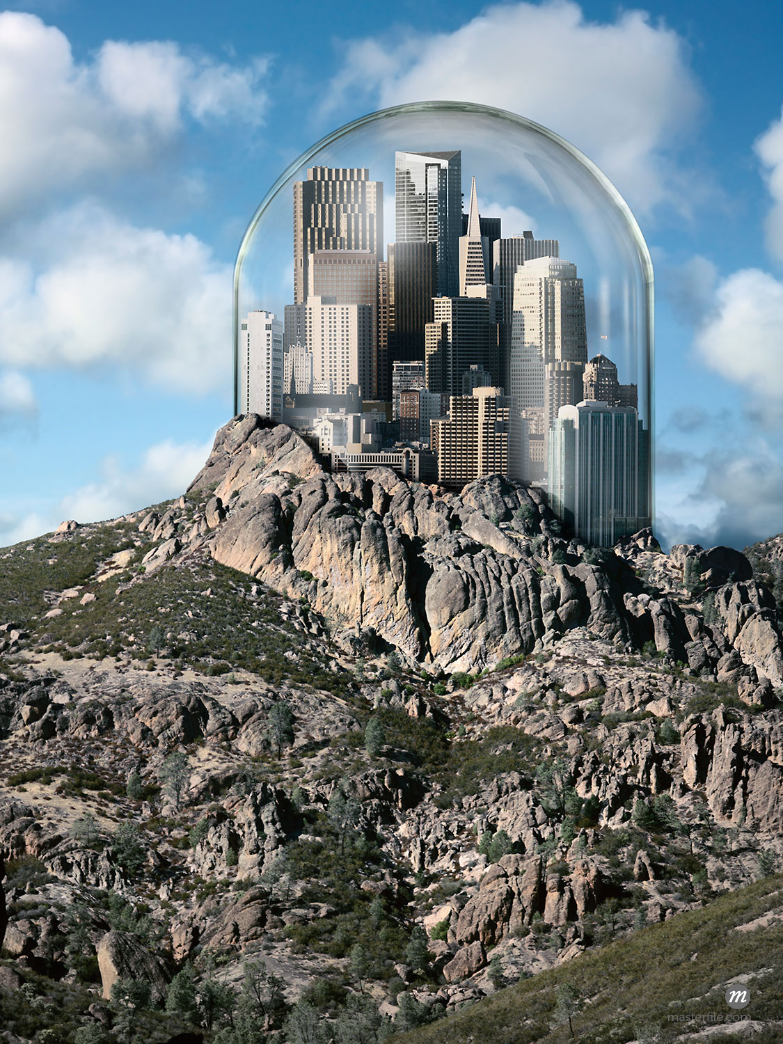Glass Dome over City on top of a Hill  © Marc Simon / Masterfile