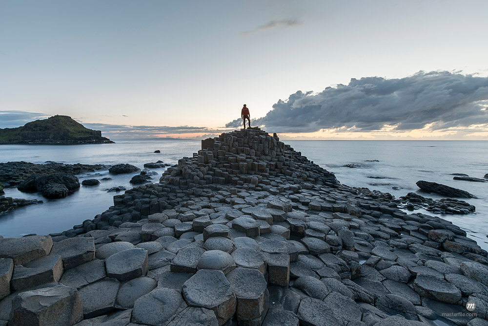 Giants Causeway at sunset, UNESCO World Heritage Site, County Antrim © Masterfile