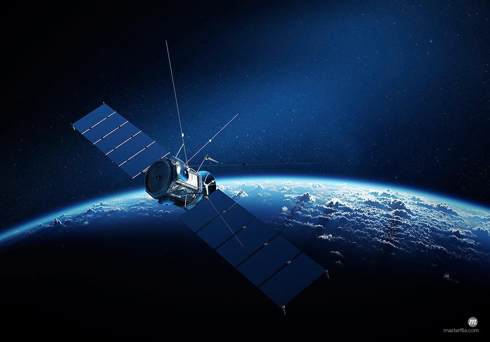 Satellite above earth, illustration © Masterfile