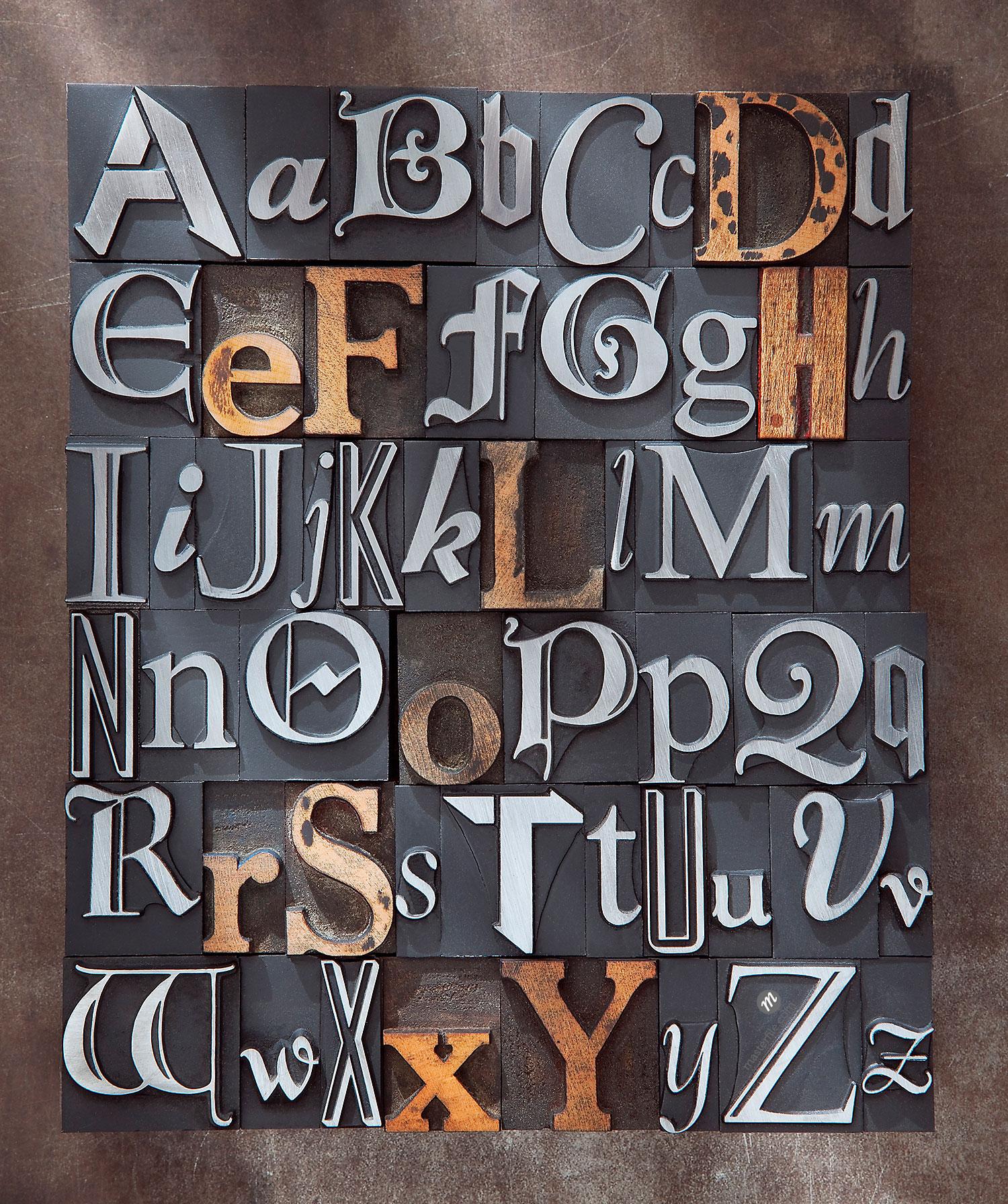 Letterpress Alphabet © Daryl Benson / Masterfile