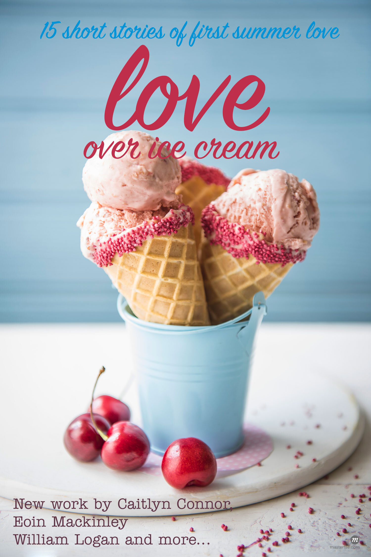 Cherry ice cream cones with cherries  © Masterfile