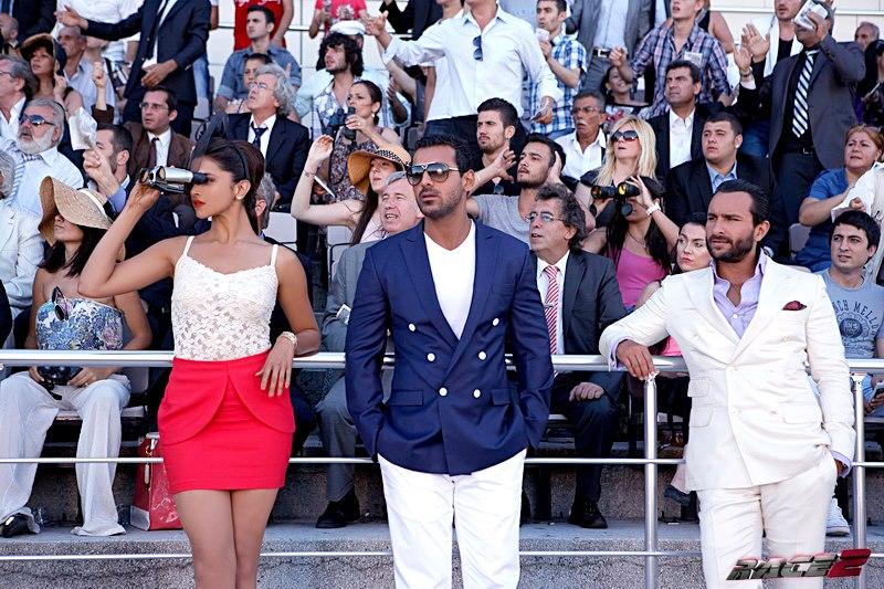 Deepika Padukone, John Abraham and Saif Ali Khan in  Race 2