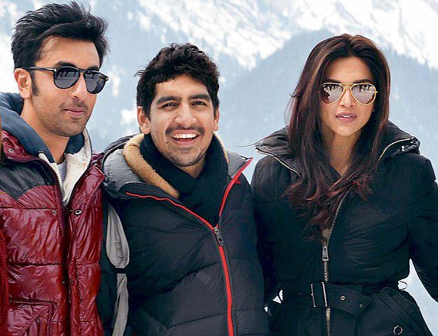 Ranbir Kapoor, Ayan Mukerji & Deepika Padukone on the sets of  Yeh Jawaani Hai Deewani