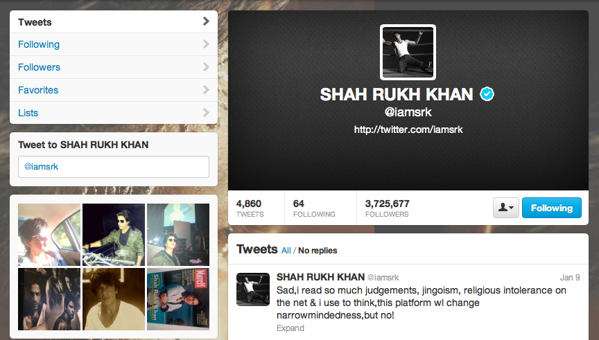 The actor who stopped tweeting back in January said he will not abandon the social networking site.