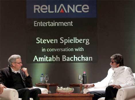 Spielberg in conversation with Amitabh Bachchan