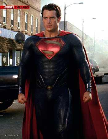 Henry Cavill in <i>Man Of Steel</i>