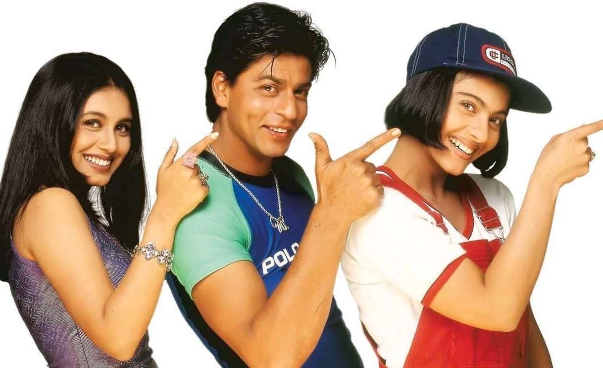 Rani-Kajol-SRK in <i>Kuch Kuch Hota Hai</i> (1998)