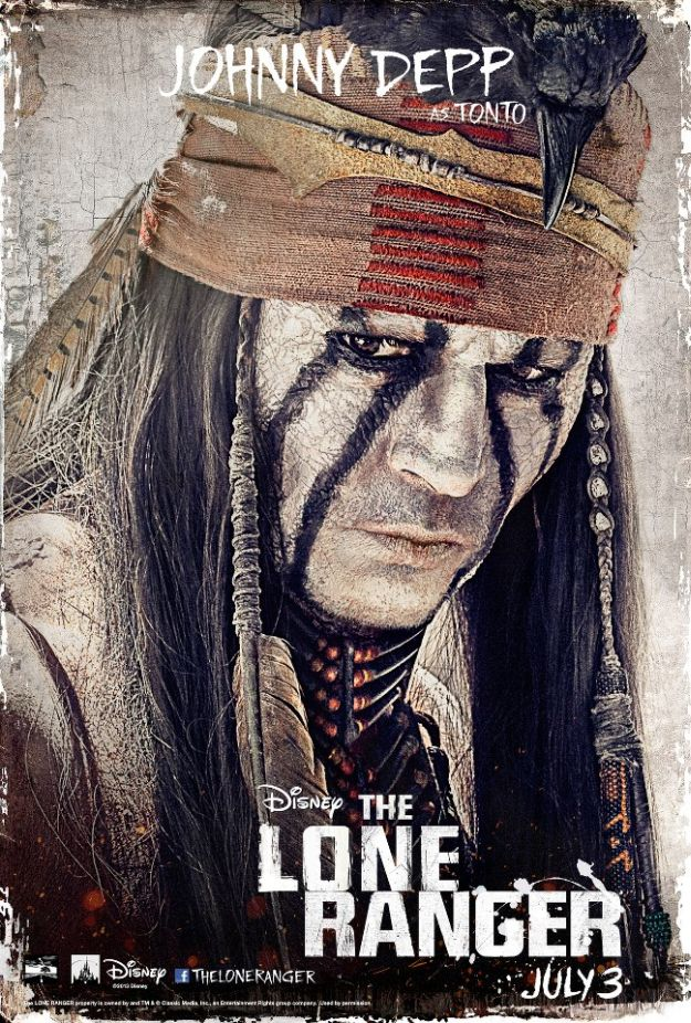 Johnny Depp in <i>The Lone Ranger</i>