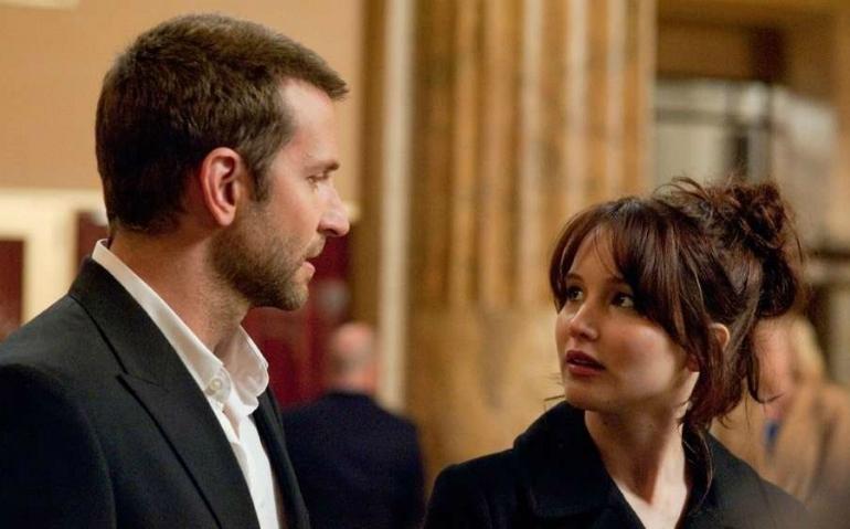 Bradley Cooper and Academy Award winner Jennifer Lawrence in  Silver Linings Playbook