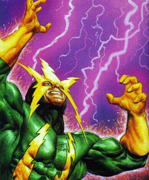 Electro as depicted in Marvel Comics