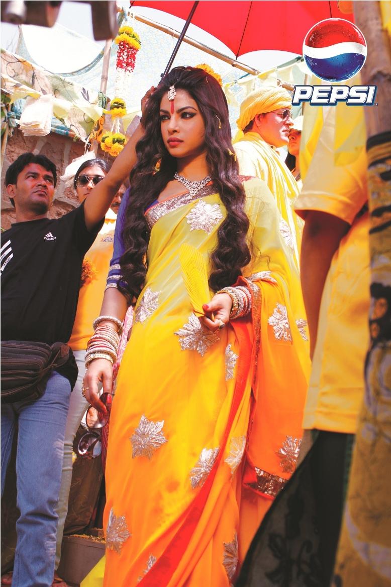 Priyanka Chopra in her spiritual diva look for Pepsi IPL_1.jpg