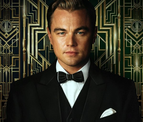 Di Caprio in  The Great Gatsby